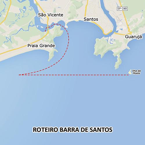 Pescaria na Barra de Santos